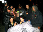 After having dinner with NYC chapter of the Universal Zulu Nation and Afrika Bambaataa